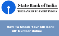 How To Check Your SBI Bank CIF Number Online